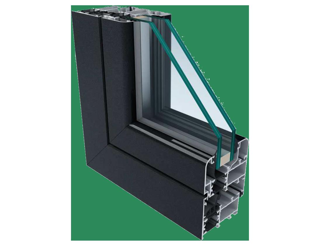 Finestre e scorrevoli p r sistem s n c for Finestre in alluminio anodizzato